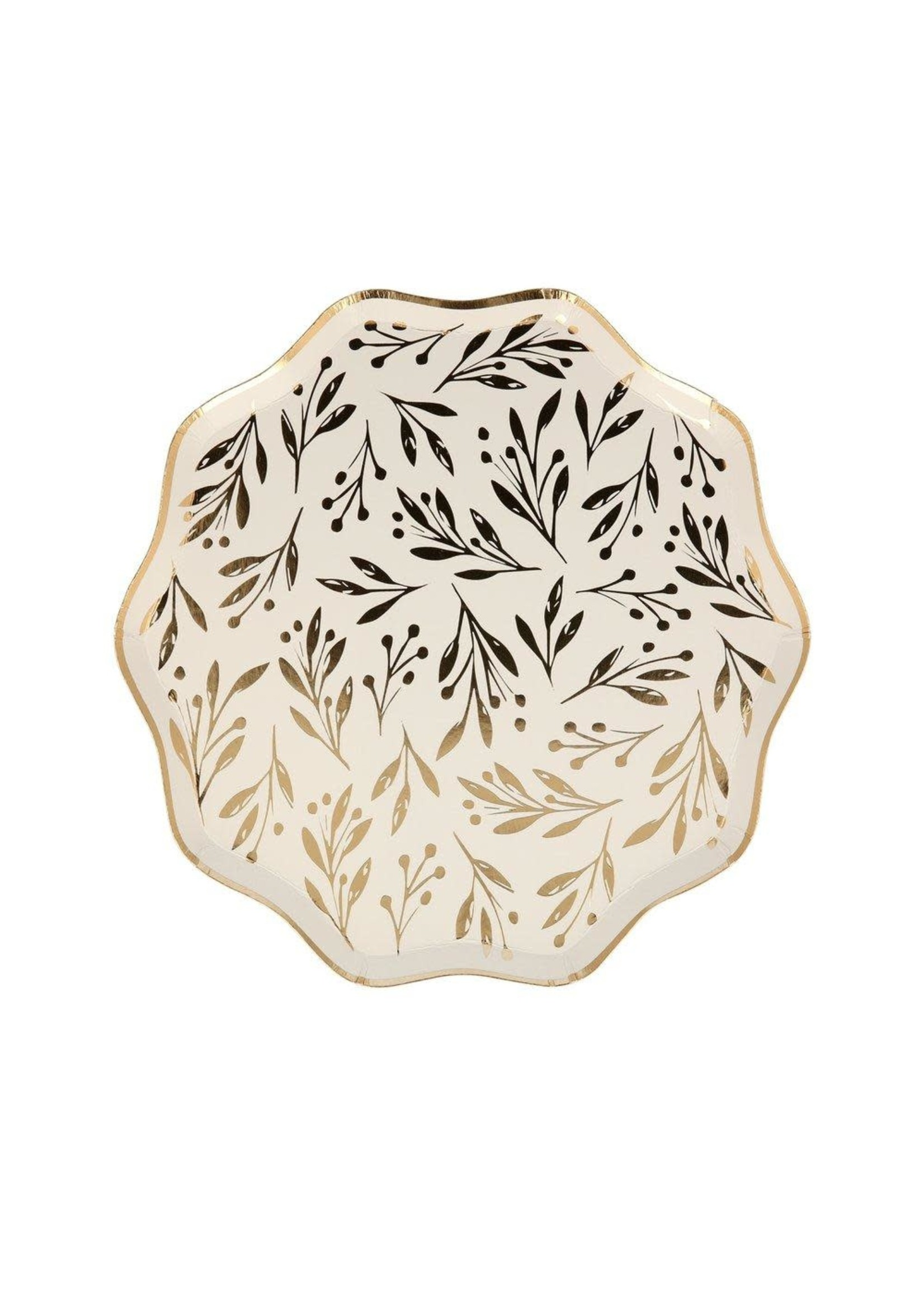 Meri Meri Paper Plates Side - Gold Leaf