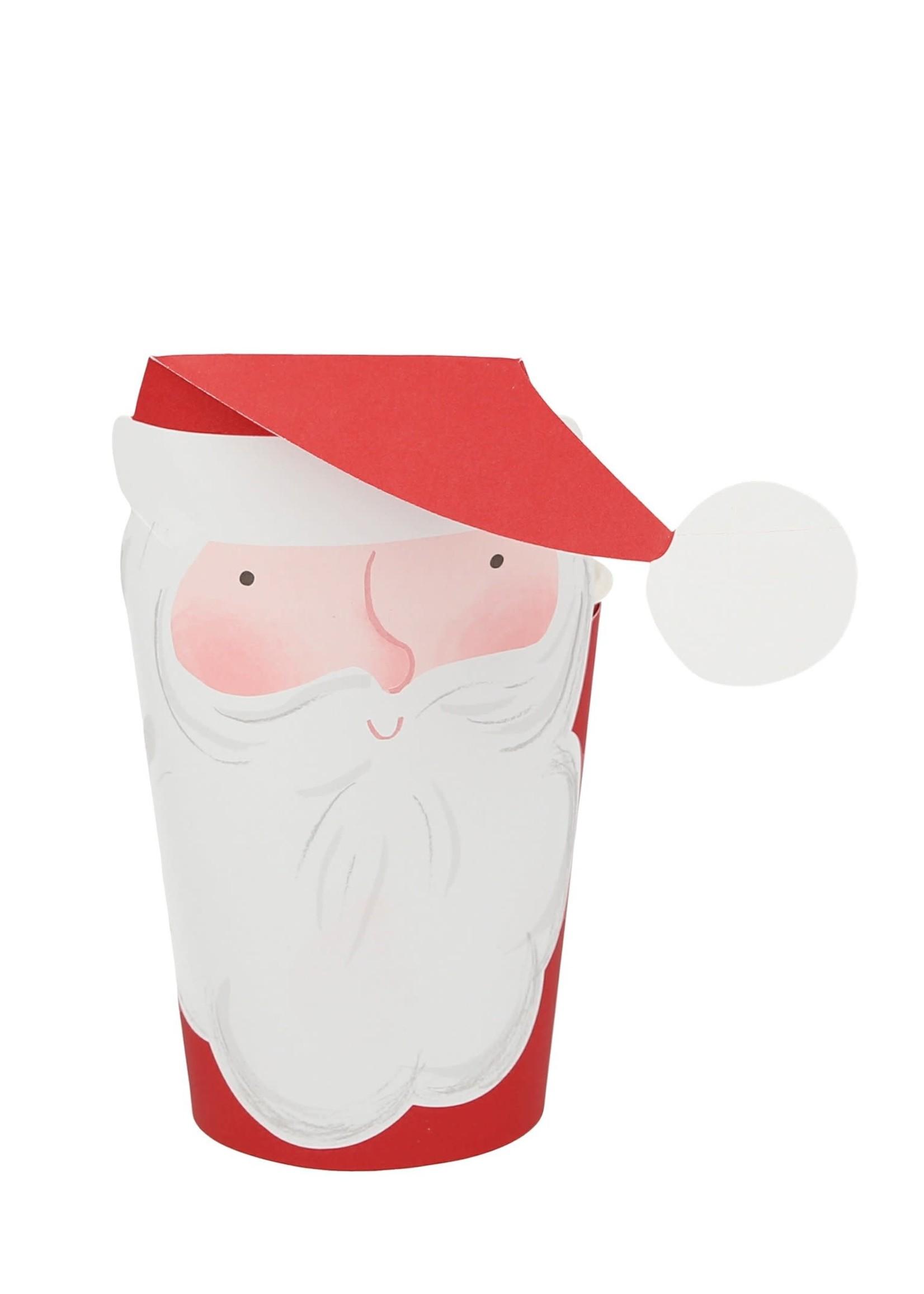 Meri Meri Paper Cups - Jolly Santa