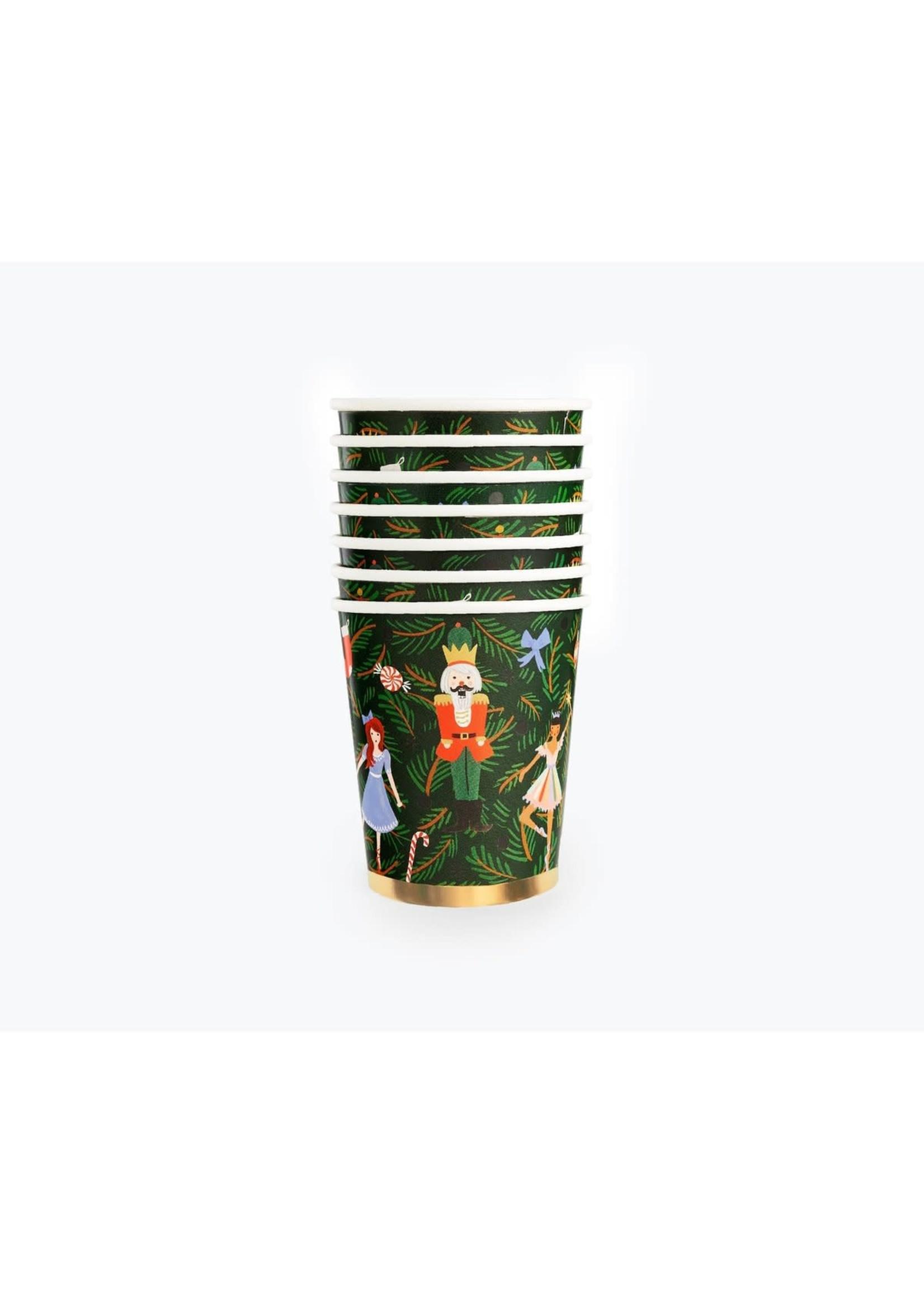 Rifle Paper Co. Paper Cups - Nutcracker 8oz (set of 12)