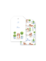 Dogwood Hill Gift Tags - Dash Topiary and Toile (pack of 10)