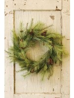 """Wreath - Pine with Cone 24"""""""