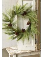 "Wreath - Pine Mixed Needle 30"""