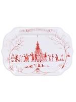 Juliska Country Estate - Ruby - Gift Tray - Winter Frolic - Merry Christmas