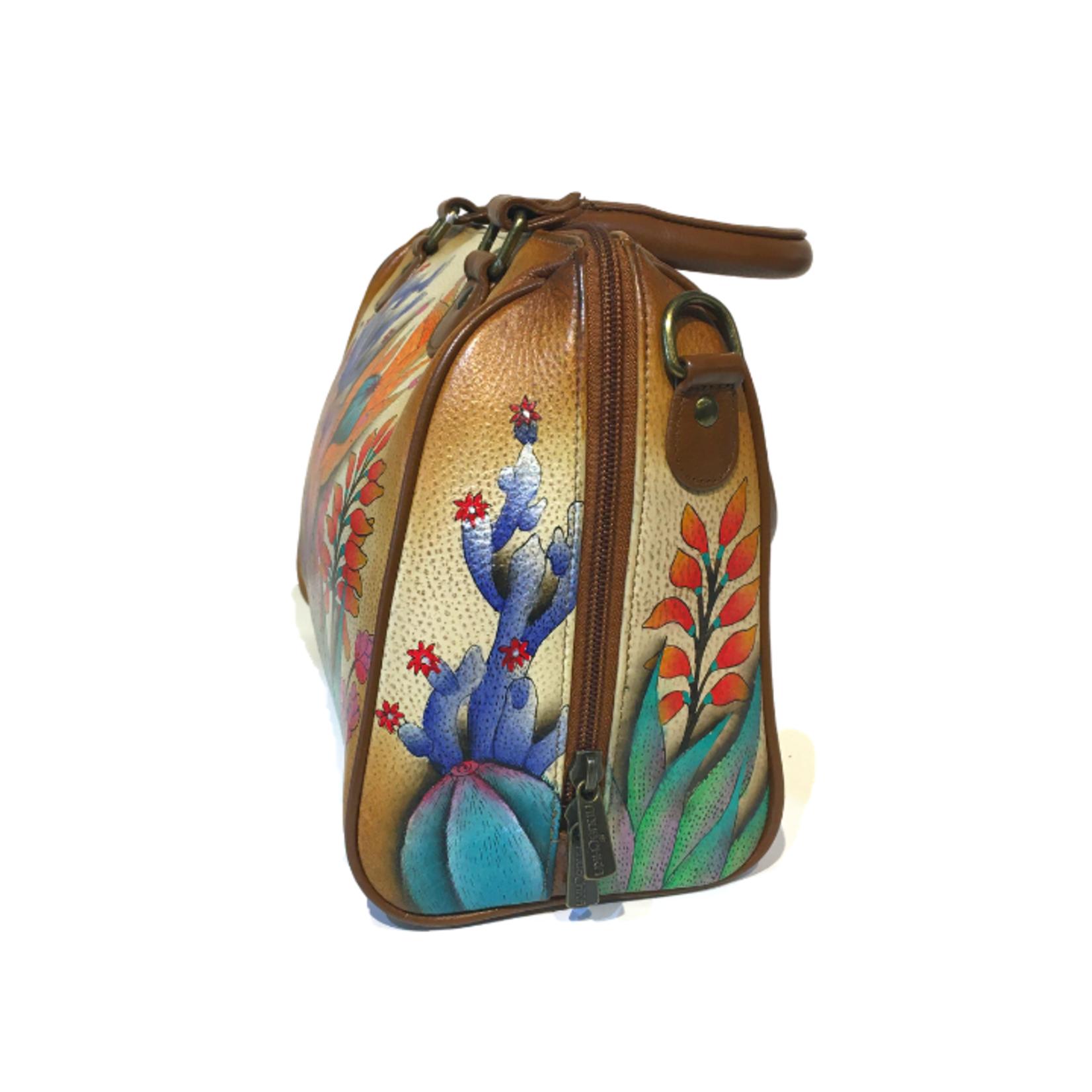 Anuschka 625 dts zip around handbag