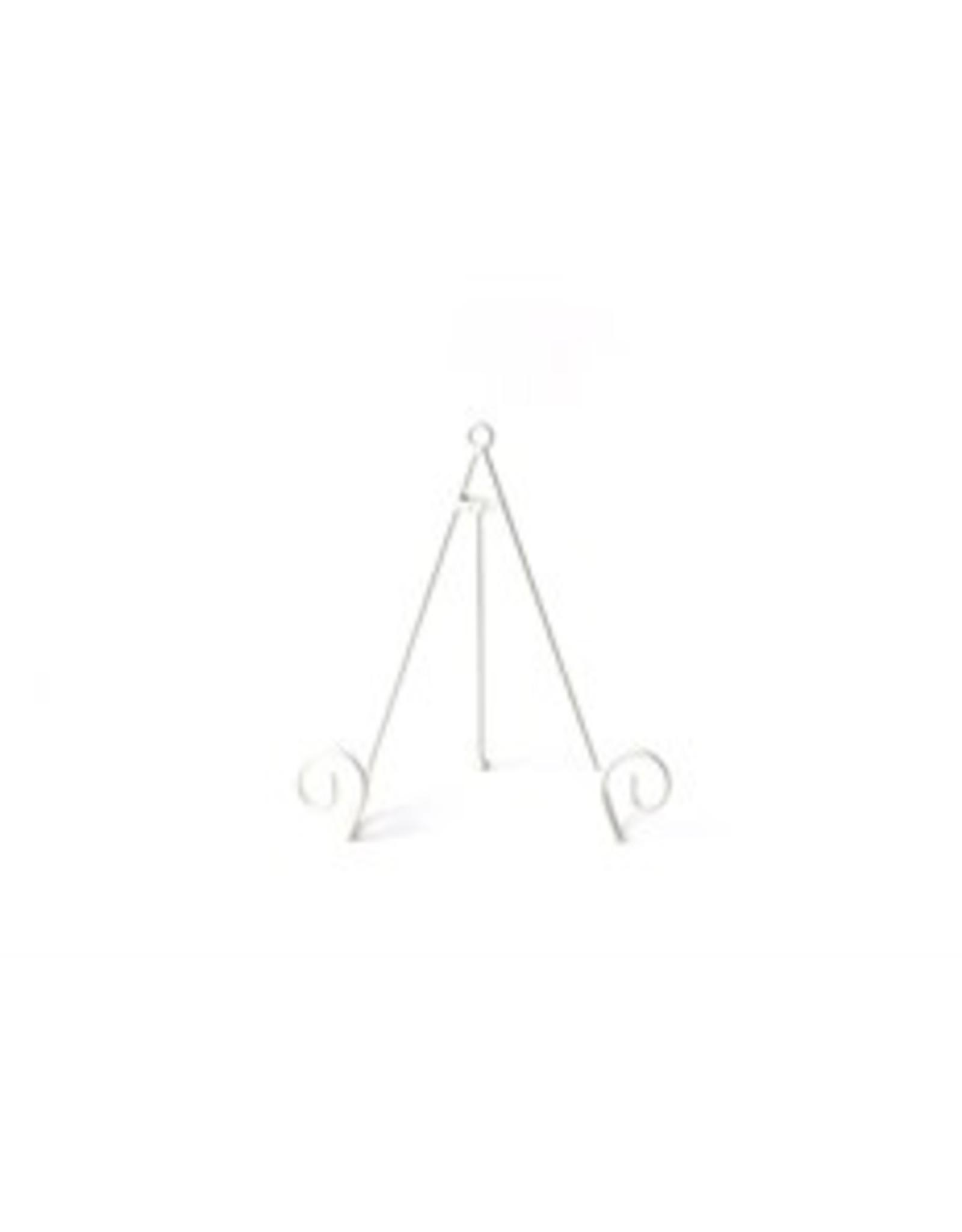 Lg White Swirl Plate Stand