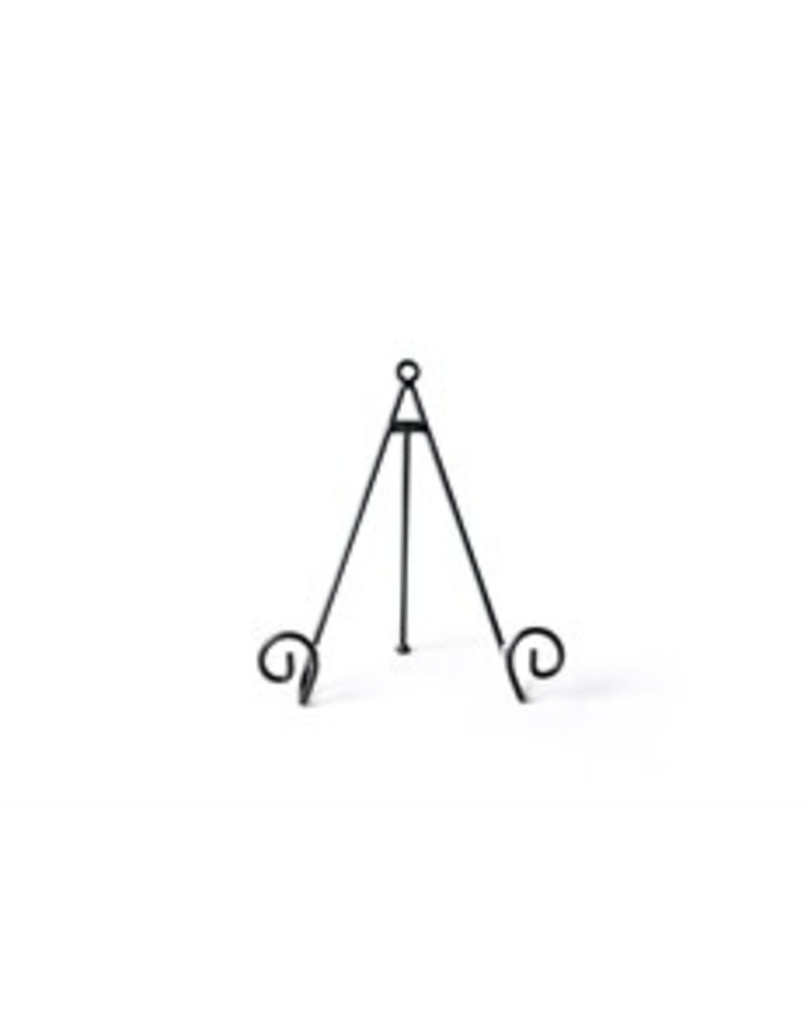Med Blk Swirl Plate Stand
