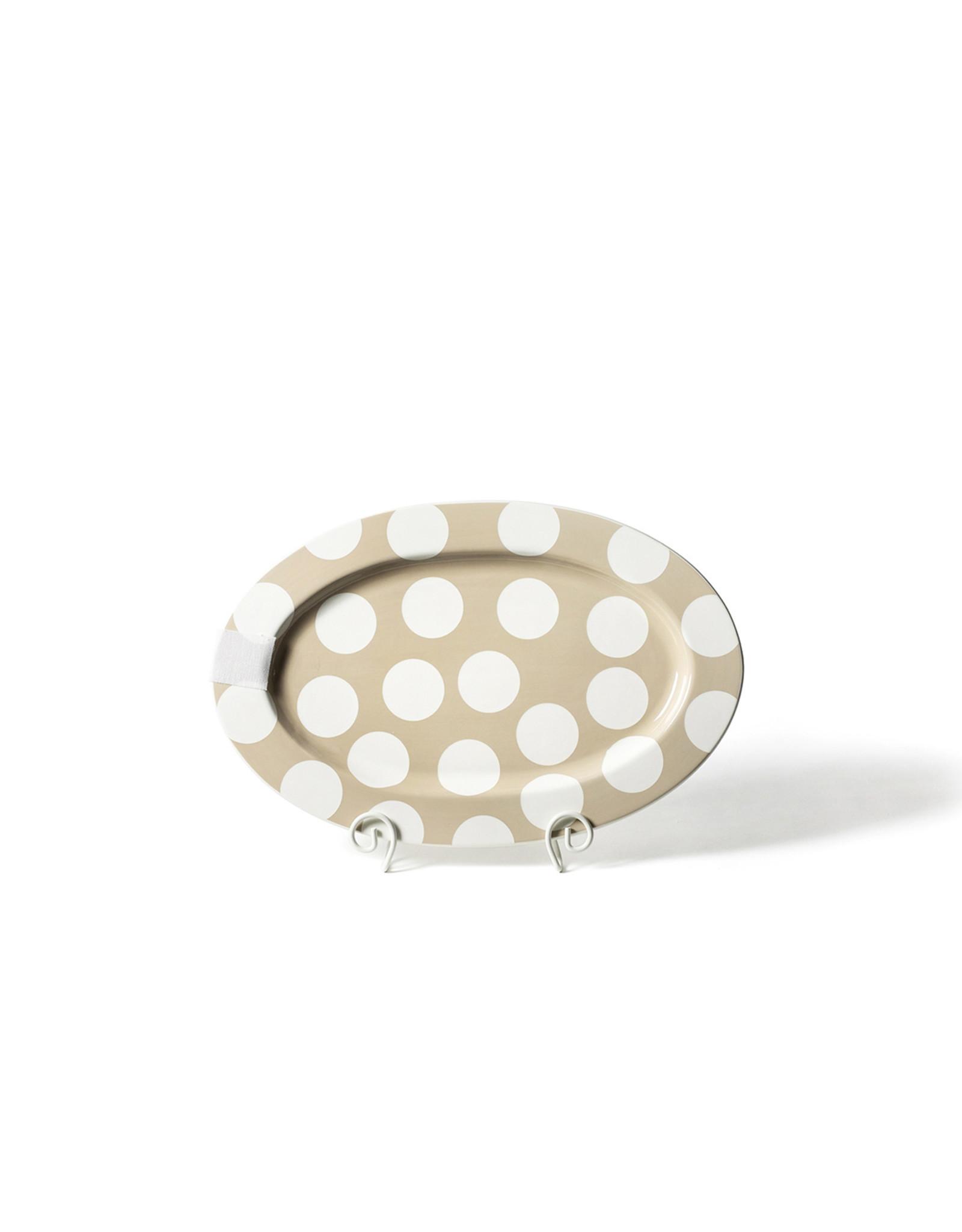 Neutral Dot Big Oval Platter