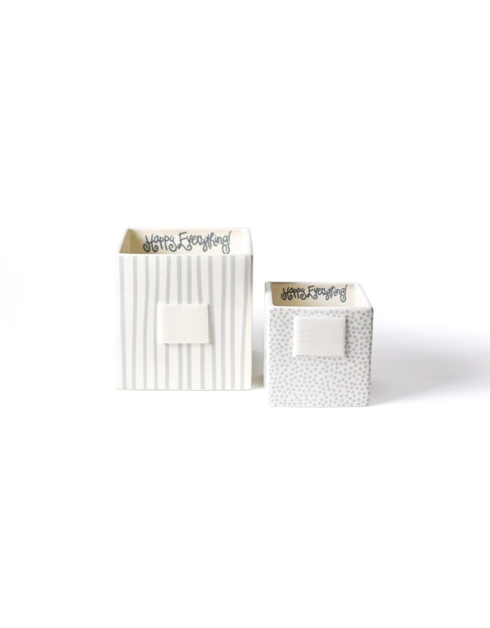 Stone Stripe Mini Nesting Cube Medium