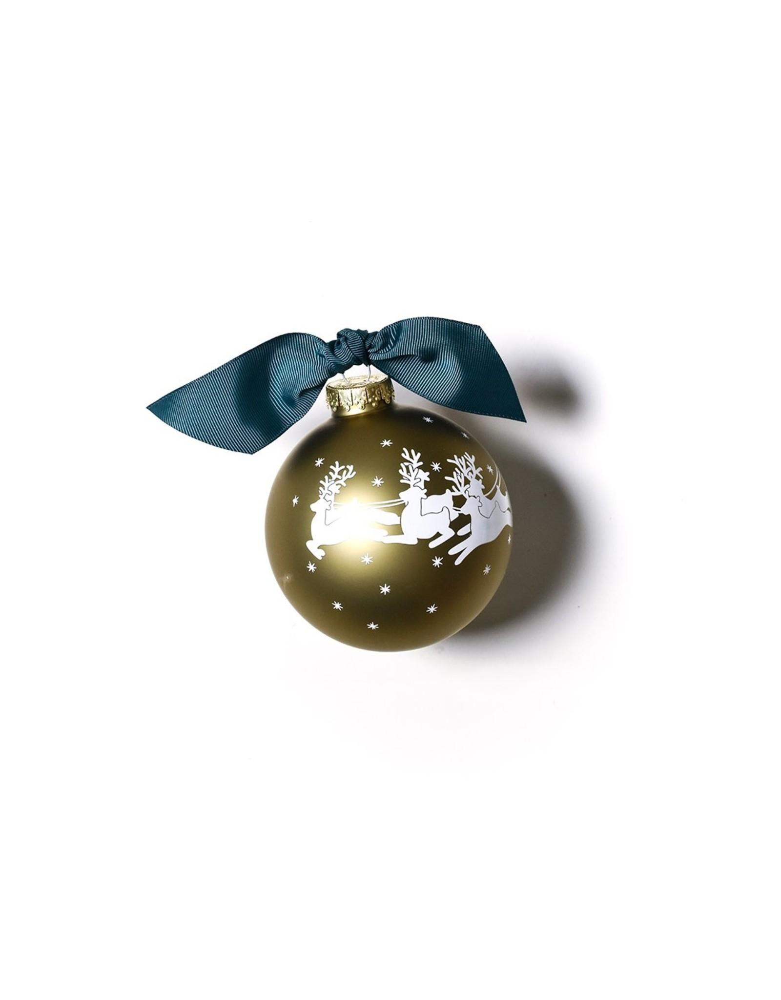 Merry Christmas to all Vintage Santa Glass Ornament