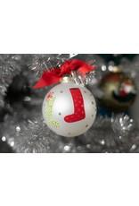 Stockings Glass Ornament