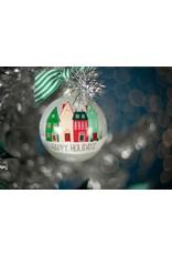 Happy Holidays Vintage Village Ornament
