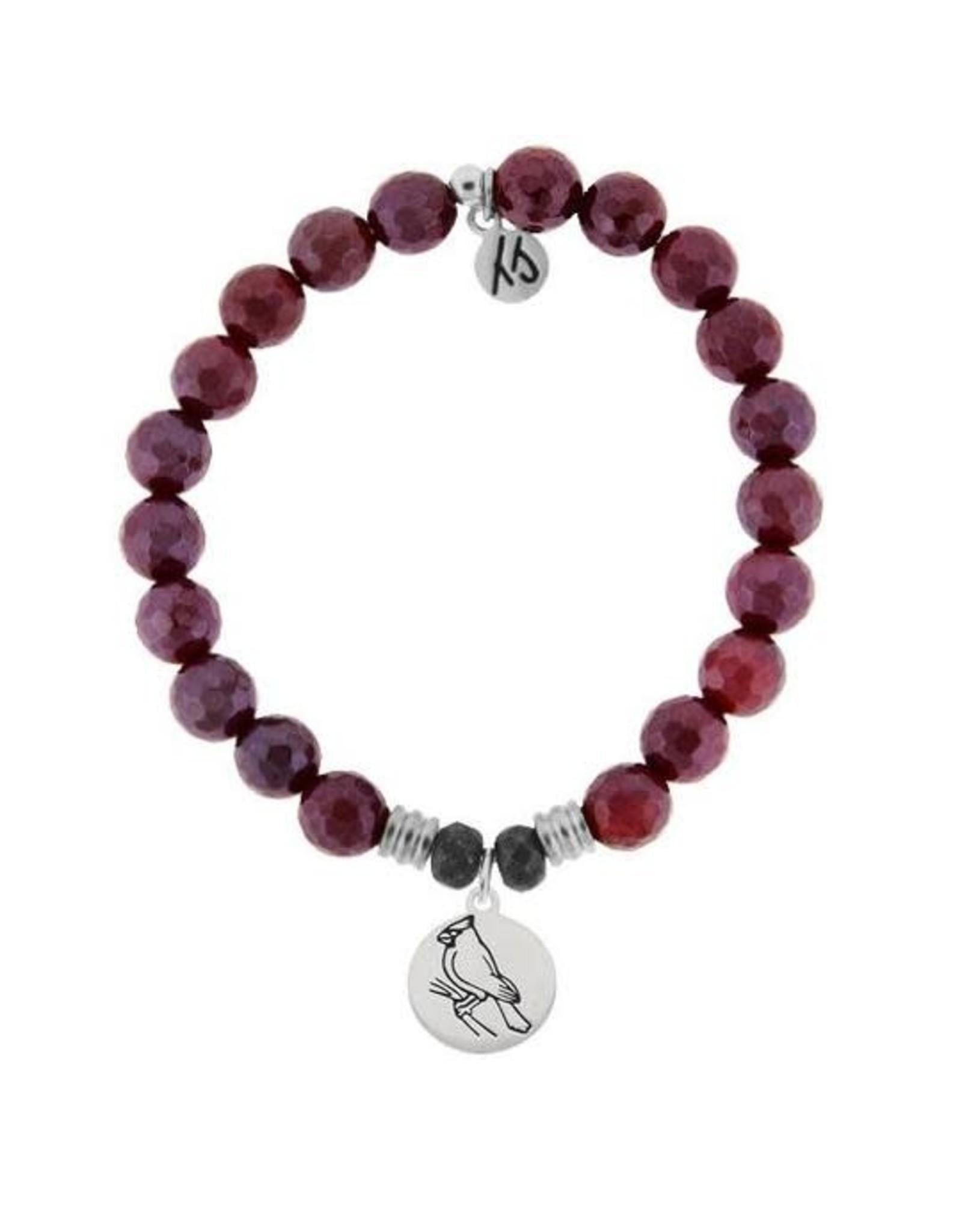 Cardinal Red Ruby Agate Bracelet