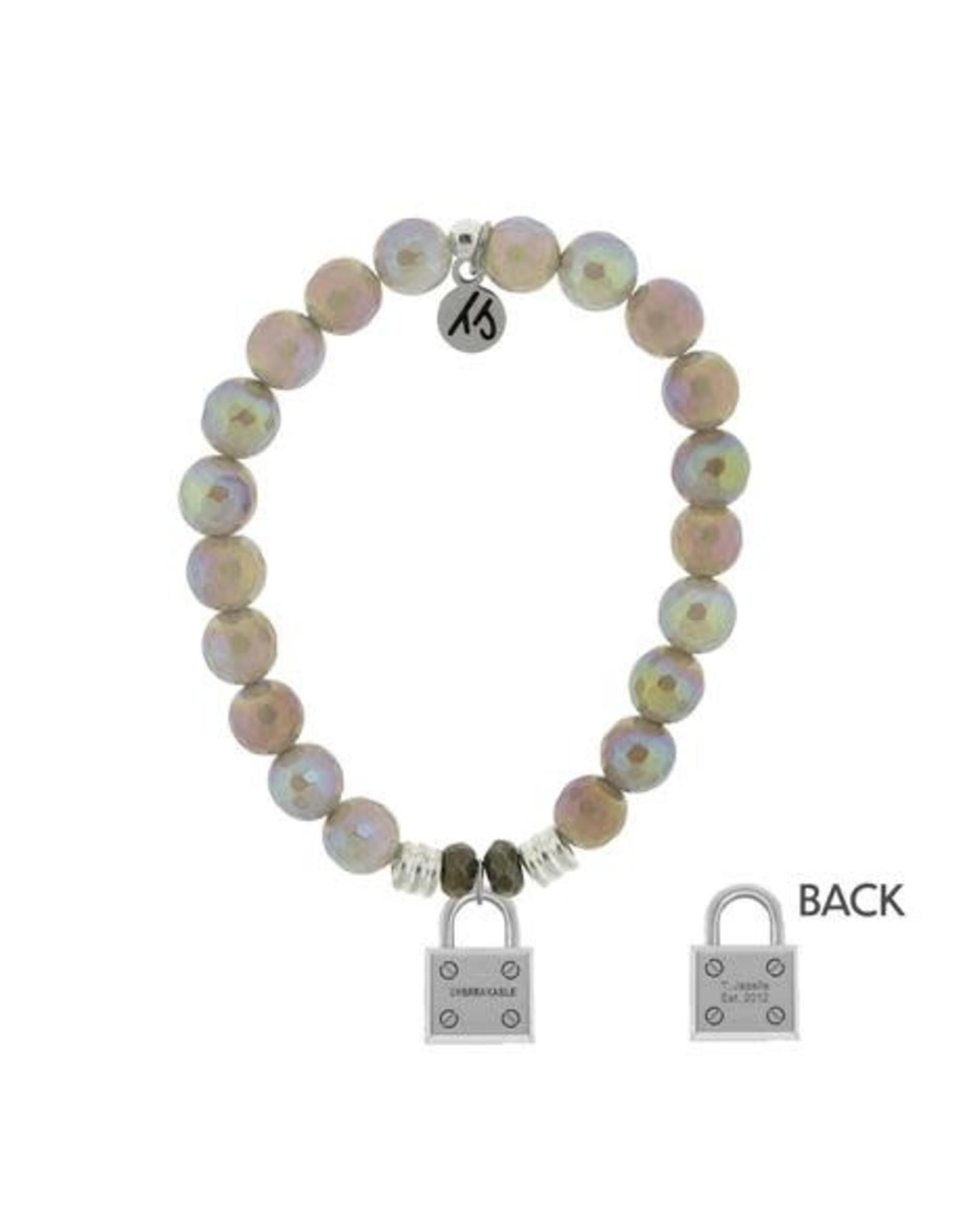 Unbreakable Grey Agate Bracelet