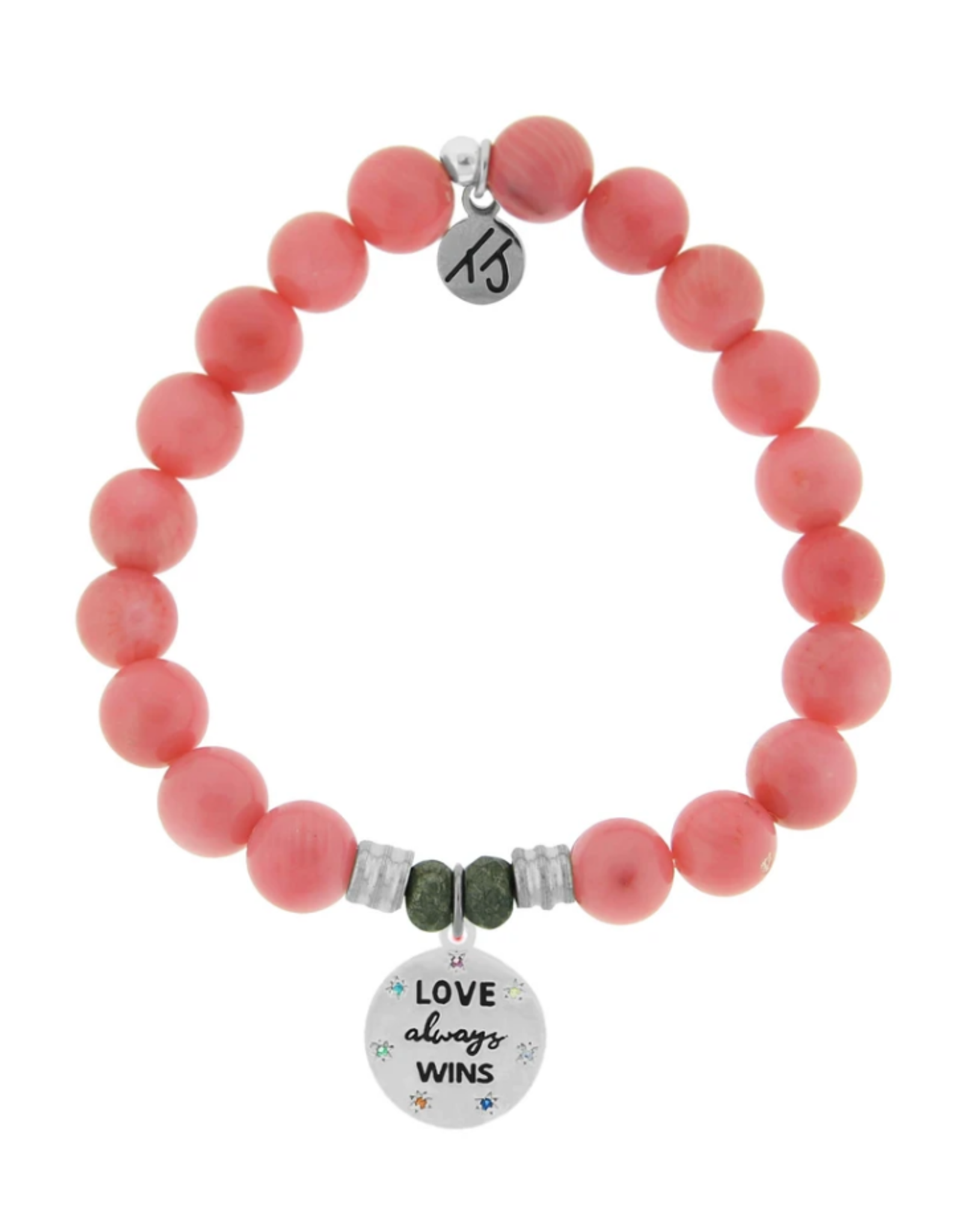 Pink Coral Love Always Wins Bracelet