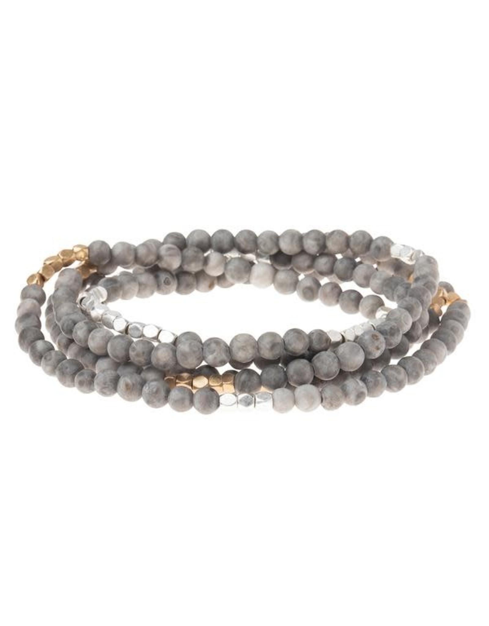 Scout- River Stone Silver/Gold Bracelet