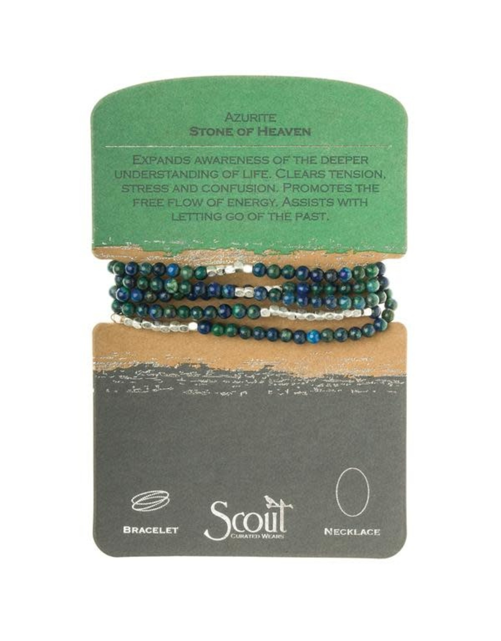 Scout- Azurite/Silver Bracelet