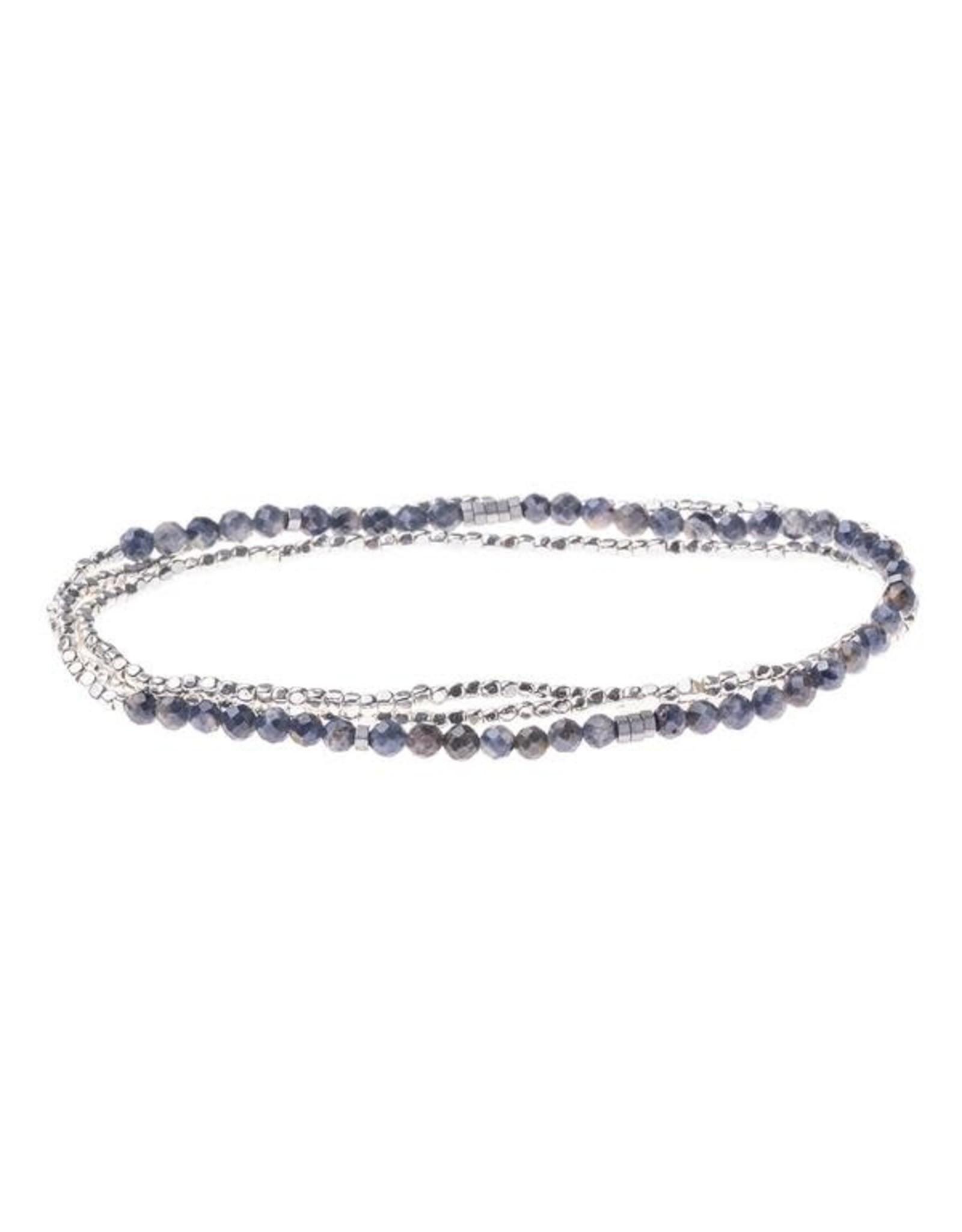 Scout- Iolite Sunstone/Silver Delicate Bracelet