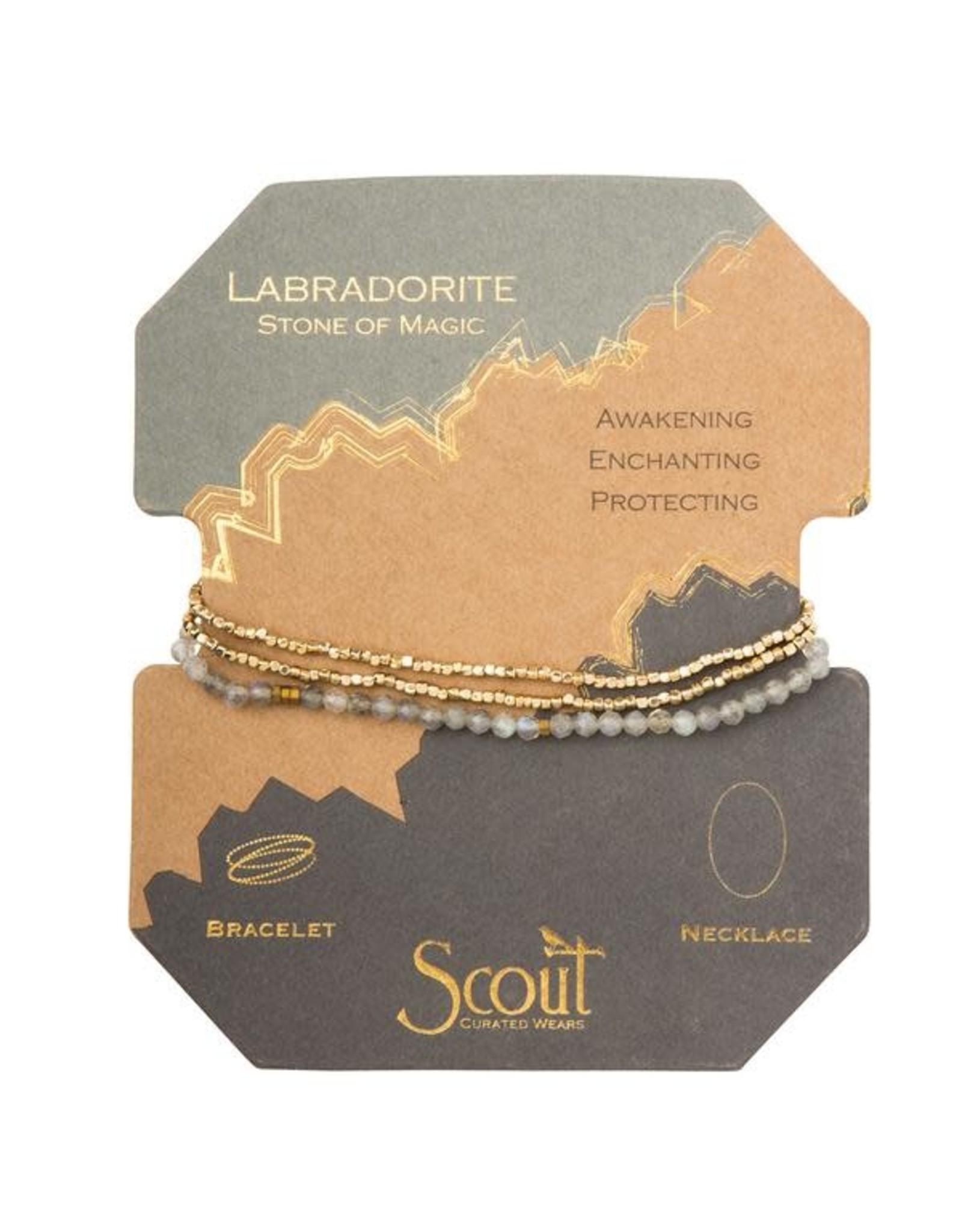Scout- Labradorite/Gold Delicate Bracelet
