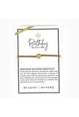 MSMH Birthday Blessing Bracelet- April Silver