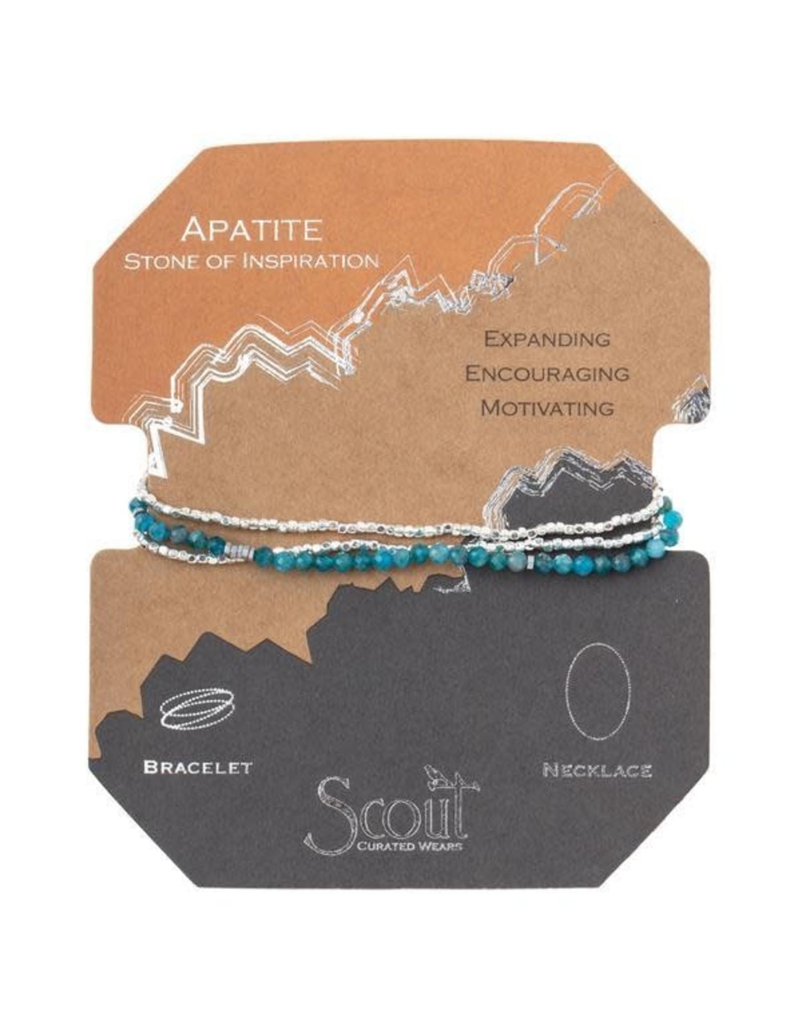 Scout- Apatite/Silver Delicate Bracelet