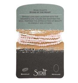 Scout- Rose Quartz/Silver Bracelet
