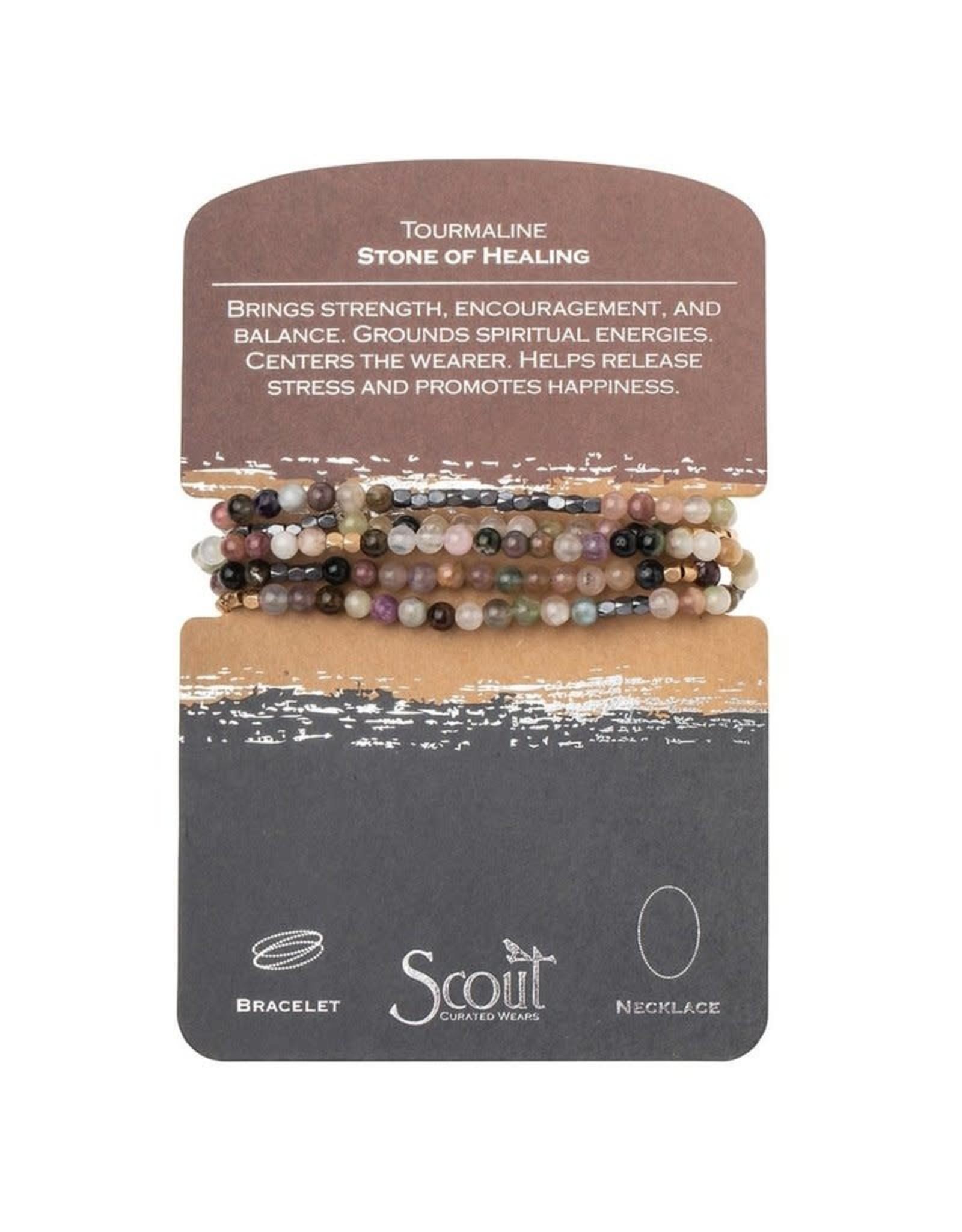 Scout- Tourmaline Hematite/Gold Bracelet