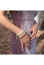 MSMH Radiant Pearl Bracelet- Cream/Pearls/Silver
