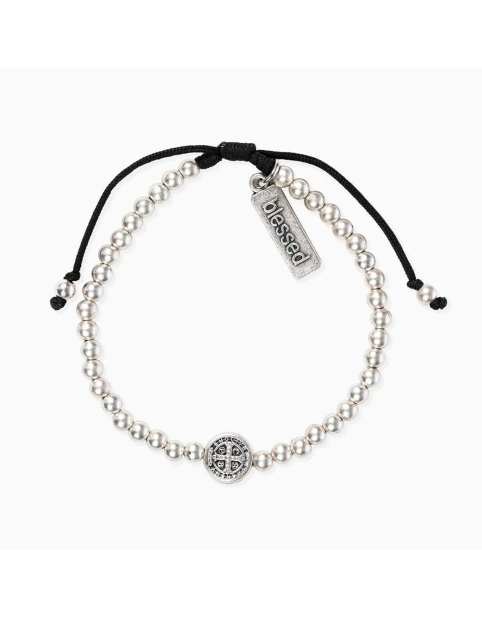 MSMH Mantra Of Love Bracelet- Silver/Black
