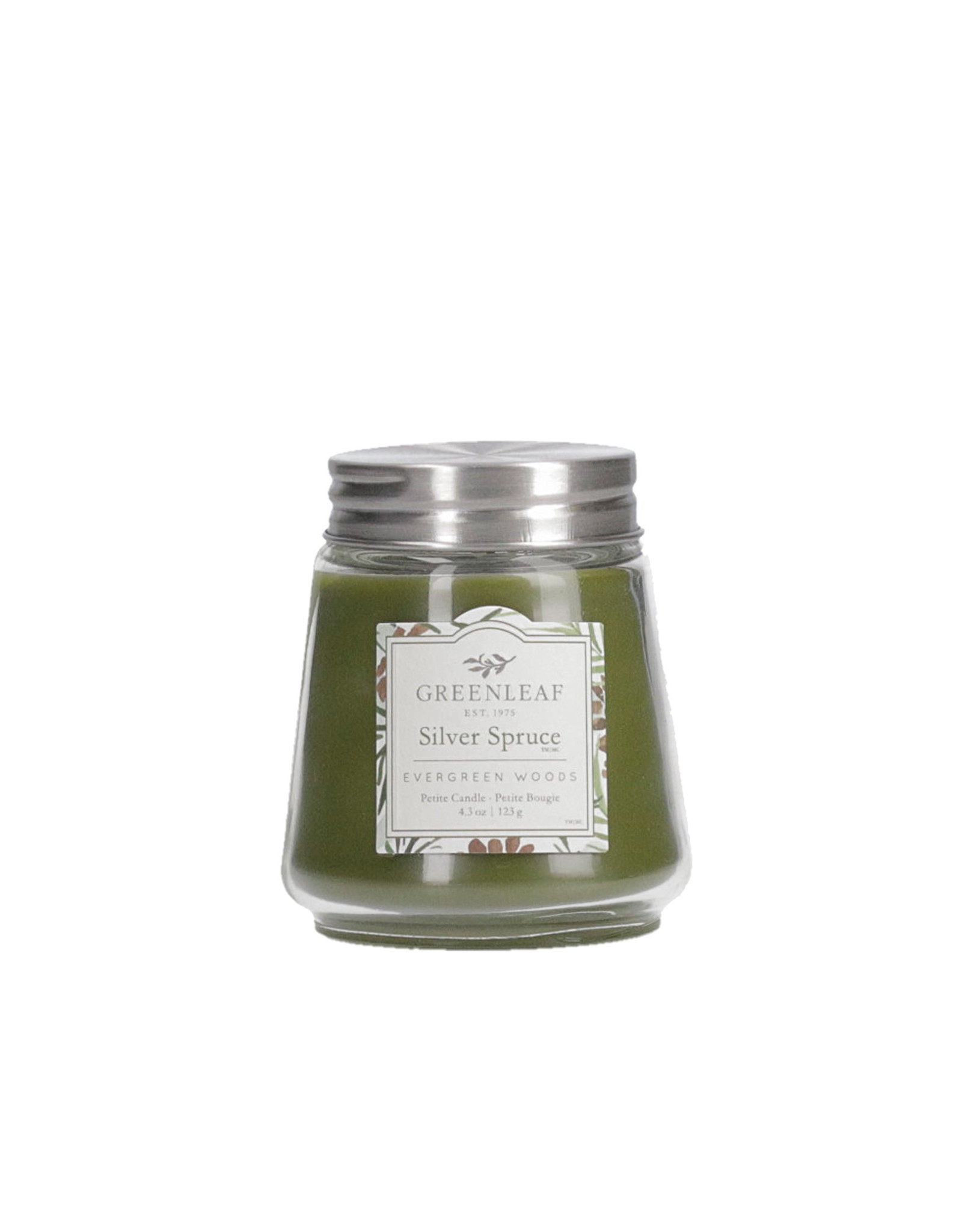 Greenleaf Silver Spruce Candle Petite