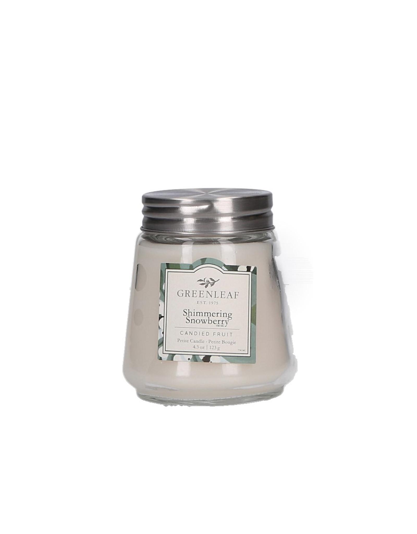 Greenleaf Shimmering Snowberry Candle Petite