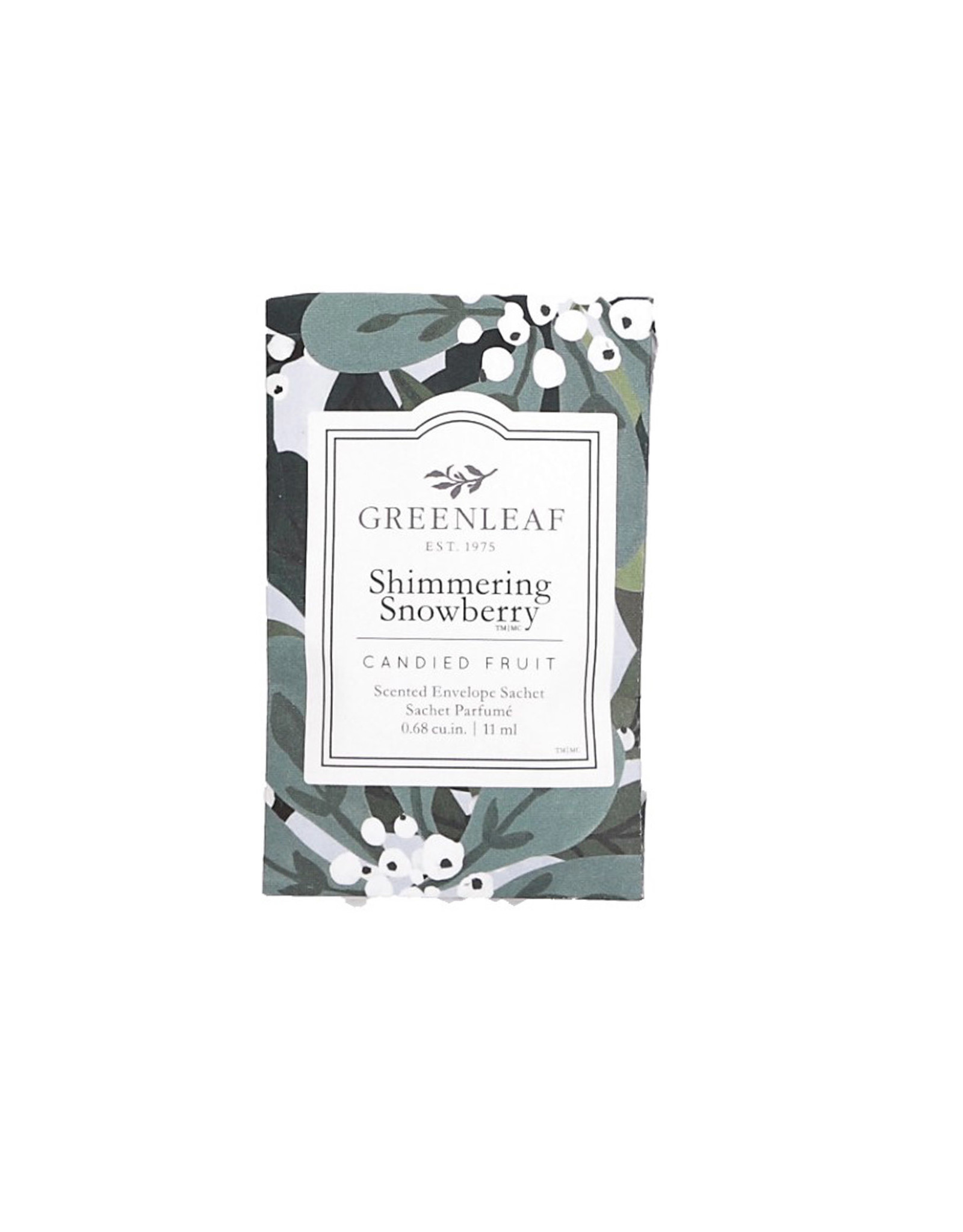 Greenleaf Shimmering Snowberry Sachet Small