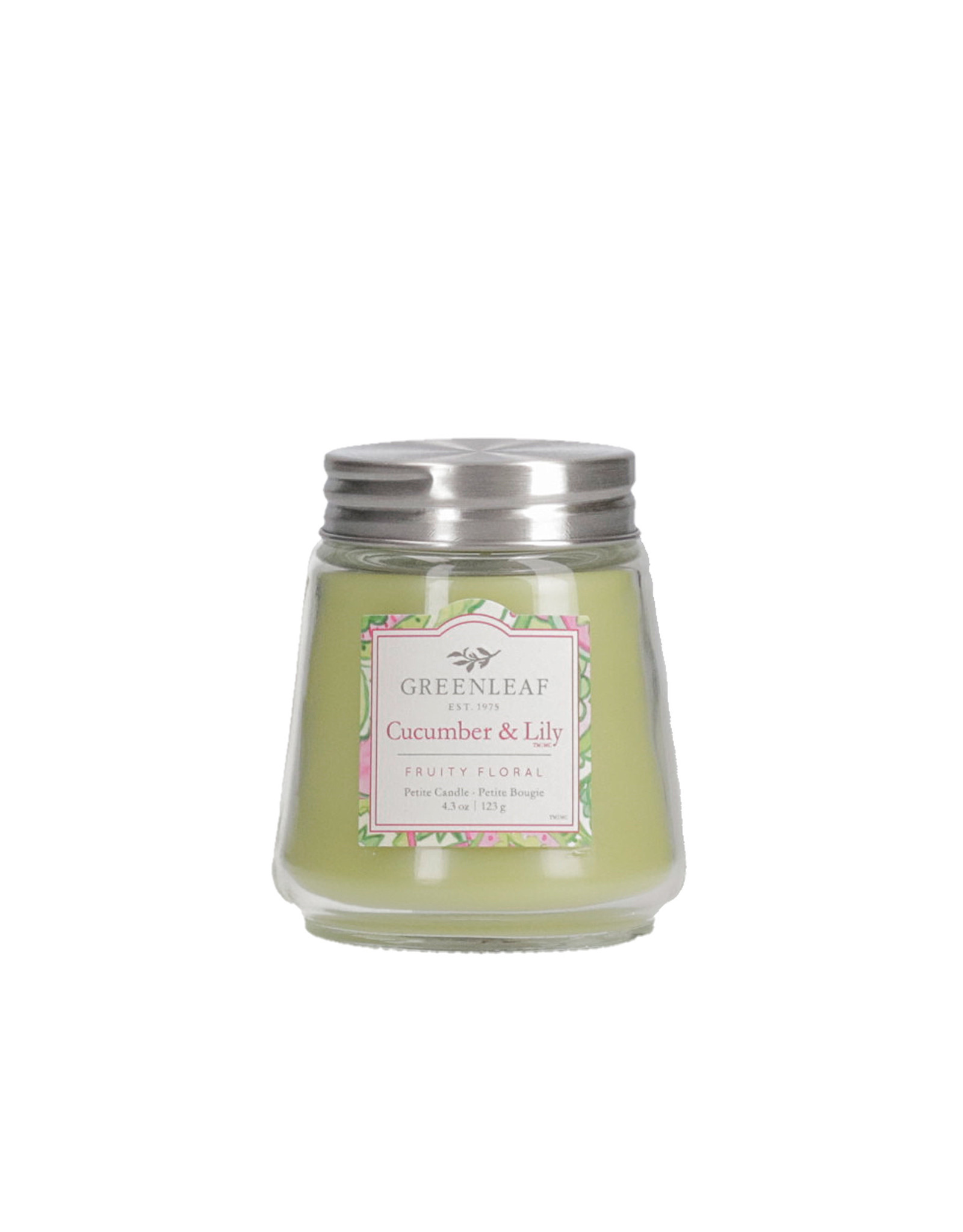 Greenleaf Cucumber and Lily Candle Petite