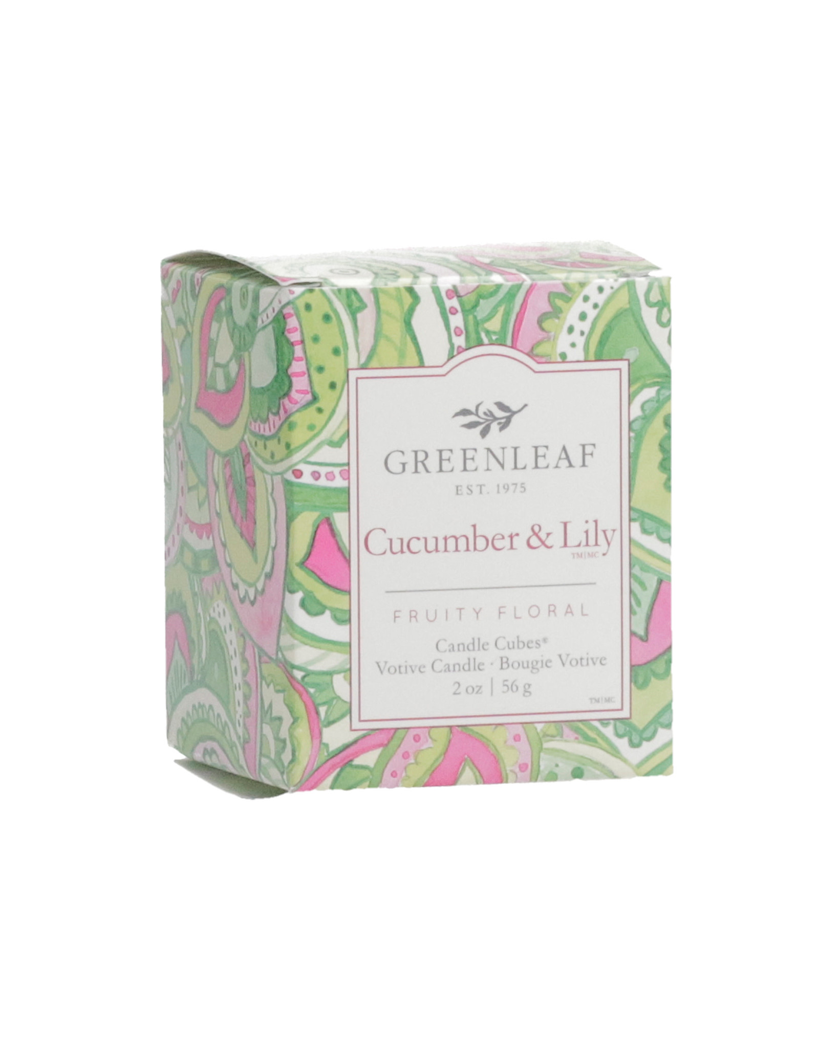 Greenleaf Cucumber and Lily Candle Votive