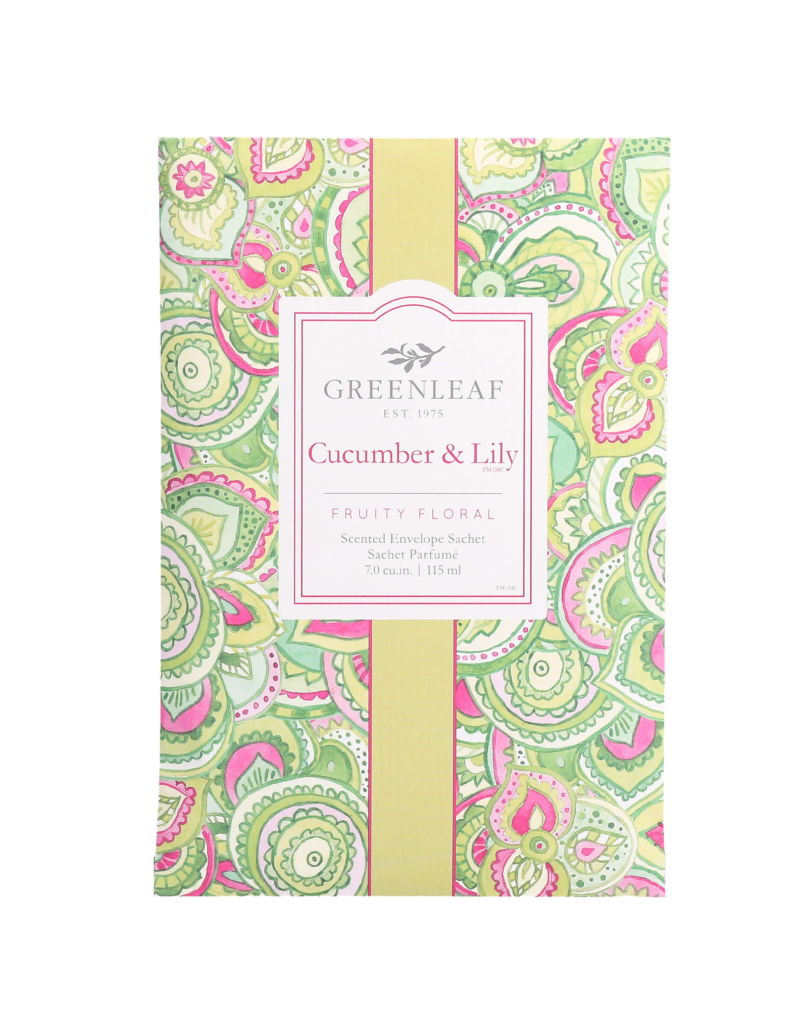 Greenleaf Cucumber and Lily Sachet Large