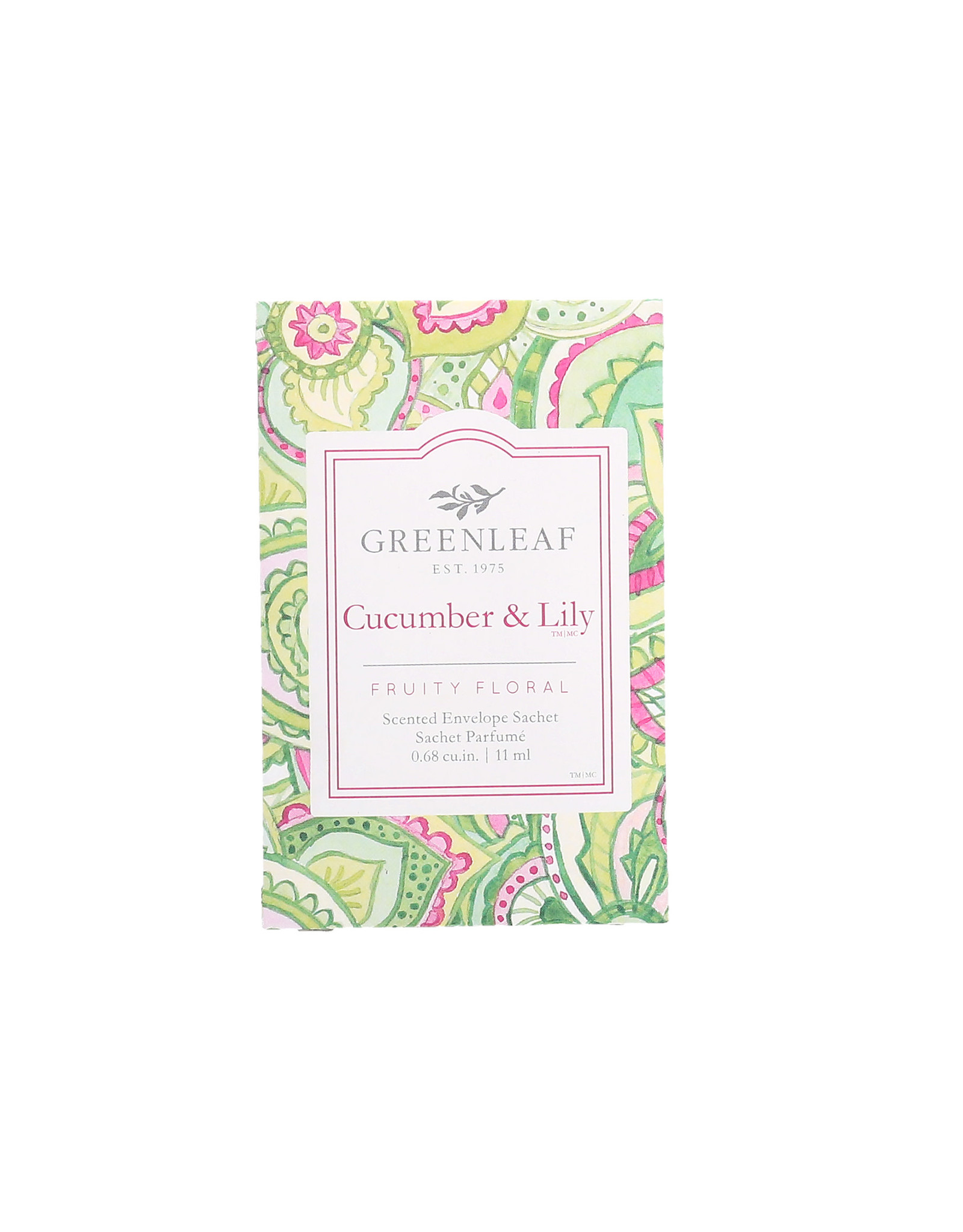 Greenleaf Cucumber and Lily Sachet Small