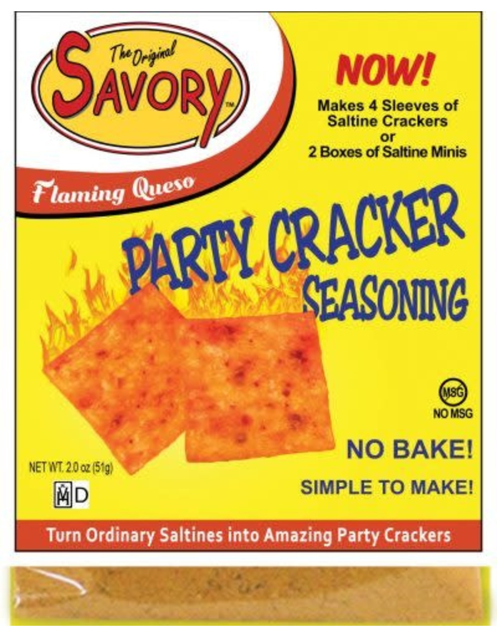 Savory Cracker Mix Flaming Queso