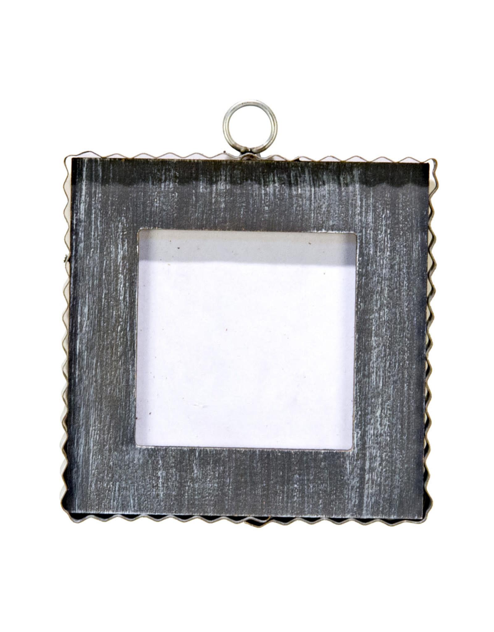 Mini Gallery Pie Crust Photo Frame Black Charm