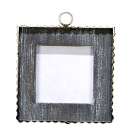 Mini Gallery Pie Crust Photo Frame Black Charm