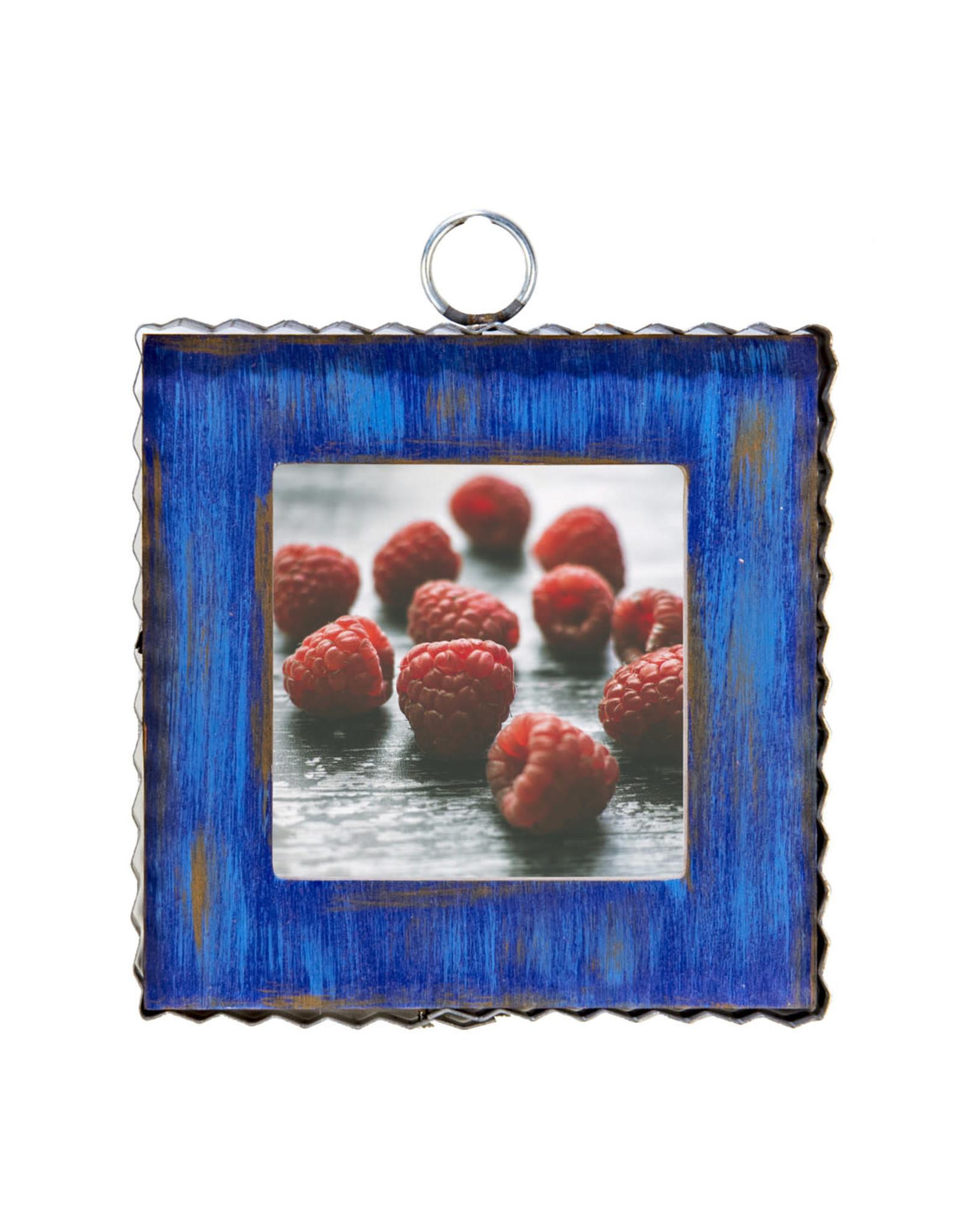 Mini Gallery Pie Crust Photo Frame Blue Charm