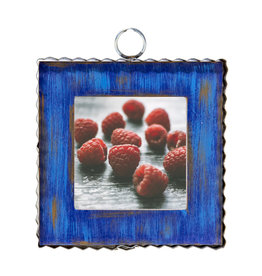 Mini Gallery Pie Crust Photo Frame Blue Charm