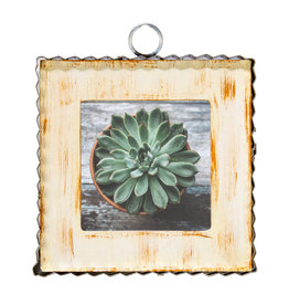 Mini Gallery Pie Crust Photo Frame Cream Charm