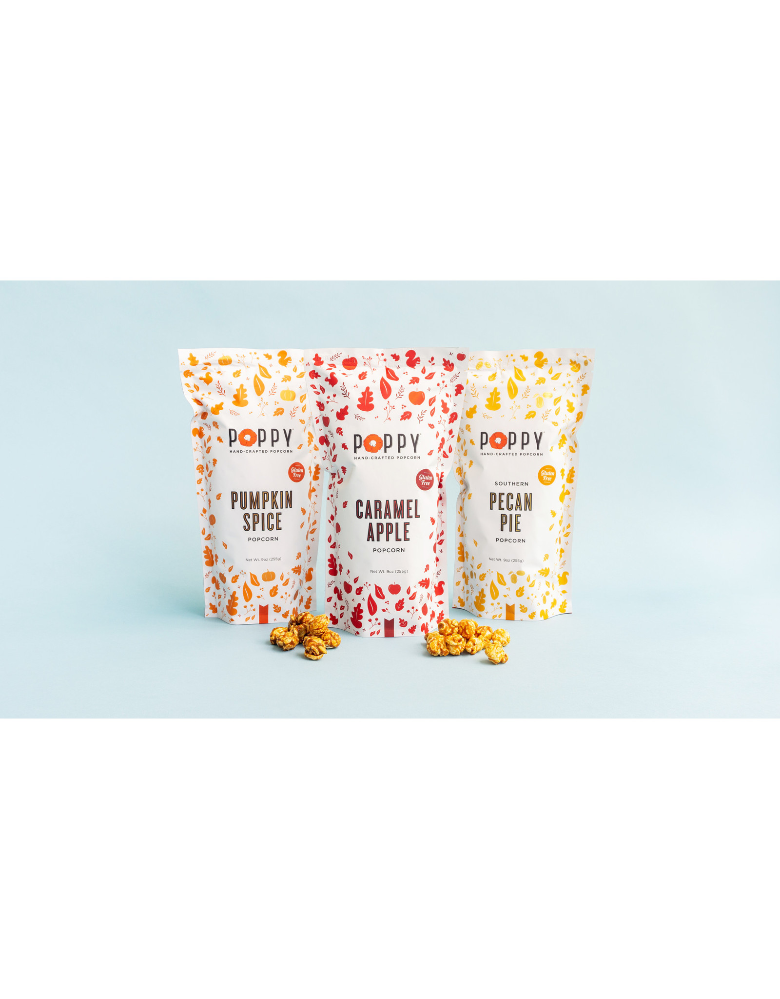 Poppy Caramel Apple Popcorn Market Bag
