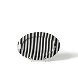 Black Stripe Big Oval Platter