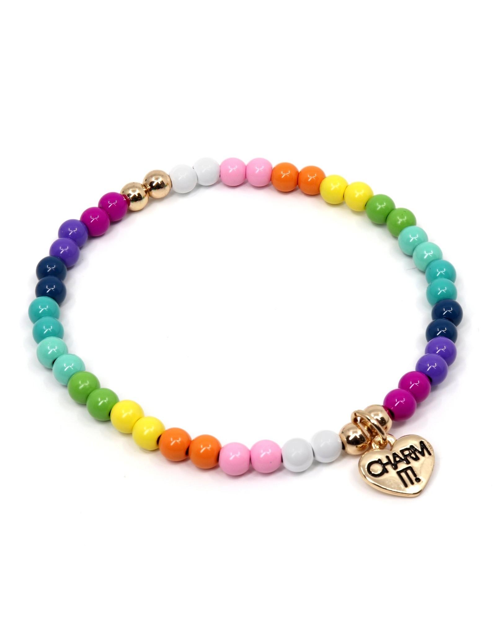 Charm-It Rainbow Stretch bead bracelet