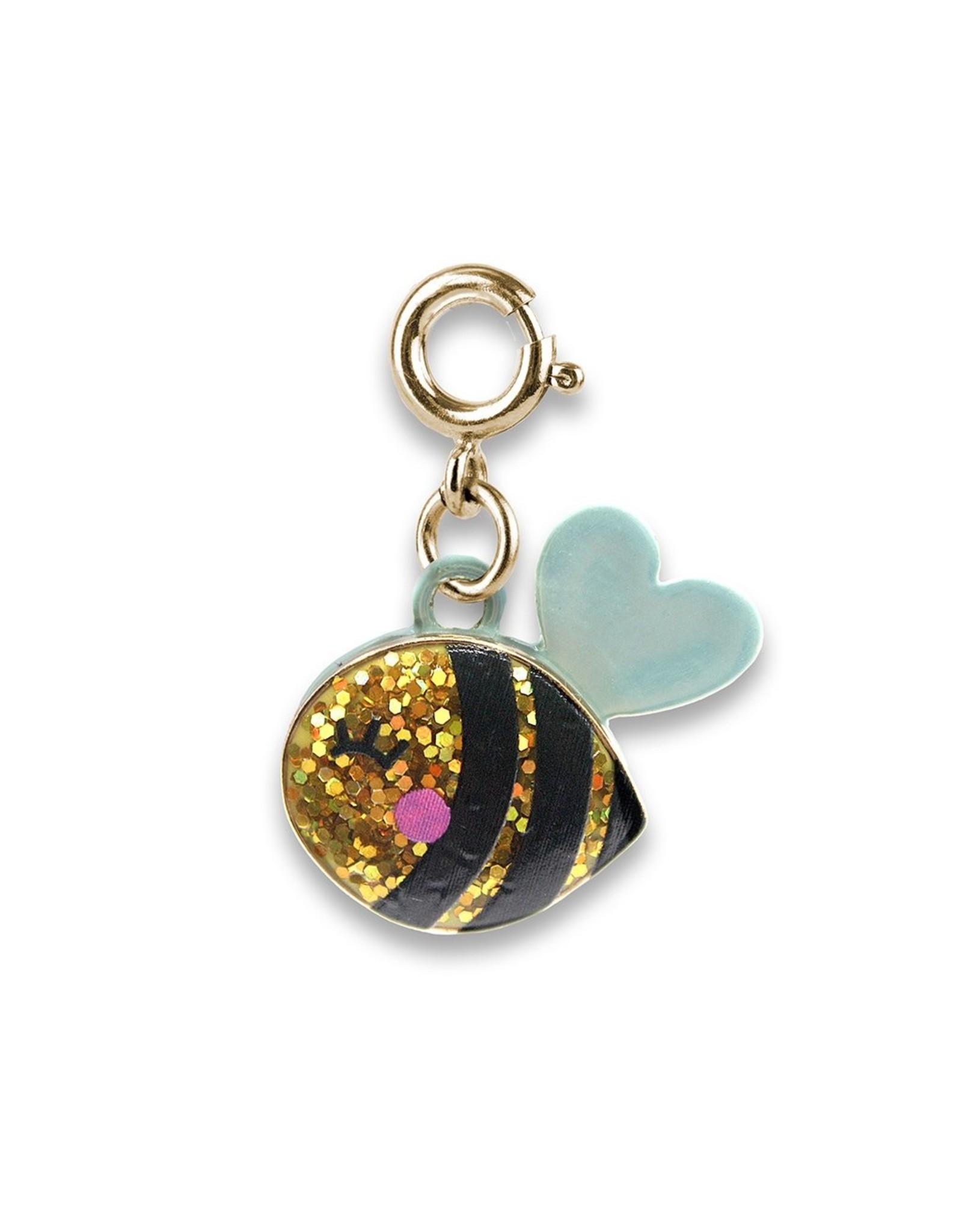 Charm-It Gold Glitter Bee