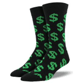 Socks Cha Ching Green Mens