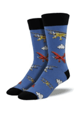 Socks Flying By Blue Fog Mens