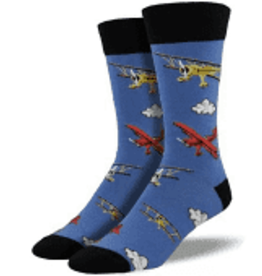 Socks Flying By Blue Fog Mens