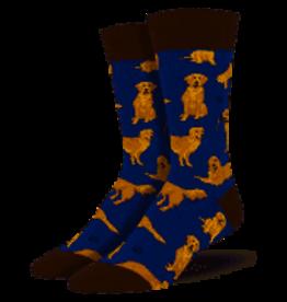 Socks Golden Retr Navy Blue Mens