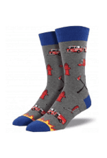 Socks Firefighter Gray Heather Mens